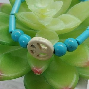 Jewelry - Turquoise peace bracelet